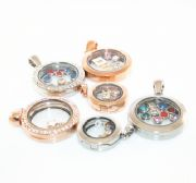 Living memory floating charm lockets